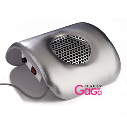 Wholesale Nail Tools Nail Dryers Nail Art Dust Collector Suction Strong Fan Manicure Tools V US or V EU Plug Beauty Salon Equipment Pink Silver