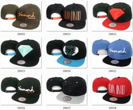 Sombreros casual para los hombres en venta-Hotsale Marca Diamond sombreros 5 tapas del panel snapback sombreros frescos de hip hop de moda gorros hombres sombreros sombreros competitivos sombreros de copa calidad mezclar orden