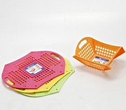 Wholesale Colorful Foldable Draining Basket Kitchen Vegetable Fruit Water Dripping Storage Basket Square Rectangle Size L Amazon