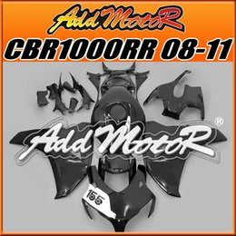 Wholesale Addmotor Injection Mold Aftermarket Fairings Fit Honda CBR1000RR CBR RR Body Kit Glossy Black H1820 Five Free Gifts