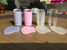Wholesale Finger Angel New cm Clear Jelly Nail Art Stamping Stamper Scraper Kit DIY Polish Print Template Manicure Tools