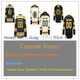 Wholesale Factory Outlet Top Quality Custom Boston Men Youth Womens authentic Premier Real Bruins Style Full Embroidery Personalize Hockey Jersey