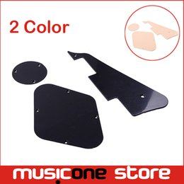 5set Wholesale 3 IN 1 Black Cream Pickguard Cavity Switch Cover For LP guitar Free shipping MU0942
