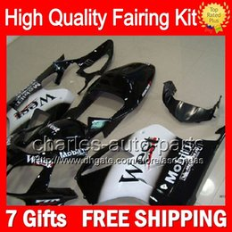 7gifts+Bodywork Black West For HONDA VTR1000 2000 2001 2002 2003 07 46LC74 VTR1000R RC51 SP1 SP2 RTV1000 VTR 1000 White 00-07 Fairing Kit