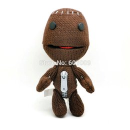 Wholesale Little Big Planet Plush Toy Sackboy Cuddly Brown Knitted Stuffed Animal Doll funny figure Toys quot