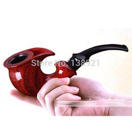 Wholesale New Men s Wooden Smoking Pipes Loop Filter Smoking Bakelite Pipe Tobacco Smoking Pipe