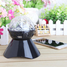 Wholesale Portable LED Colorful Light Bluetooth Crystal Ball Wireless Speaker Support TF Card FM Radio For Party DJ Club