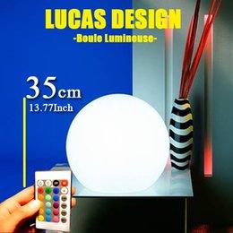 Wholesale-35cm Free shipping r Landscape garden sphere lamp Lights Rechargaeble lamp