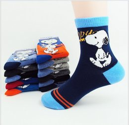 Wholesale 2016 New Big Boys Girls Socks Student Socks Children Cartoon Snoopy Socks Kids Cotton Winter Spring Socks Sizes For T