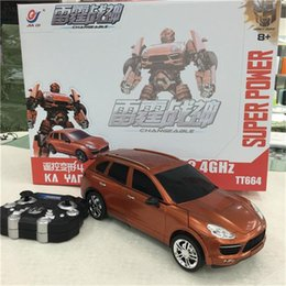 Wholesale Deformation Toy Car Models Changeable Machine For Child New Design Remote Control Automatic key Smart Toy