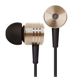 Wholesale Original Xiaomi Brand New Version Mi Headphones In ear Earphone mm Stereo Earphone with Mic Control Talk Rose Gold Crystal Silver Pink