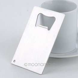 1 Piece Free Shipping Wallet Size Stainless Steel Credit Card Bottle Opener Business Card Beer Openers #5