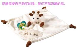 Wholesale high quality baby appease towel Infant Reassure Towel newborn deer blankie development educational plush placate toy