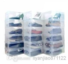 Wholesale Clear Transparent Plastic Shoe Boxes for Clear PP Shoe Storage Boxes Foldable Plastic Package Box Debris Storage Box Clamshell Shoebox