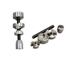 2Pcs 14mm & 18mm adjustable titanium nail GR2 titanium nail 2 in 1 TITANIUM NAIL Titanium Domeless Nail Wax Oil NEW for vapor