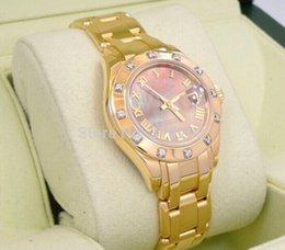 factory sales luxury watch new Women's Watch Automatic GOLD FACTORY MOP DIAL & DIAMOND BEZEL 80318 watches
