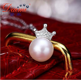 Wholesale Daimi Demi jewelry Bei tours mm Circle Light Natural Freshwater Pearl Pendant S925 Silver Genuine Female
