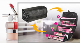 Wholesale Roll N GO Cosmetic Makeup Bag Women Fashion Handbag Toiletries Hanging Organizer Travel