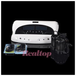 Wholesale Pro far infrared Belt LCD Ionic Cell Detox Ion Foot Bath Cleanse Detox Foot SPA Machine two people