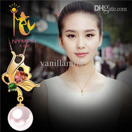 Wholesale-NYMPH Brand 18K 7-8mm Natural Good Luster <b>Akoya pearl</b> necklace ... - rBVaHVZ2ERqAeFQFAABny0YClXk863