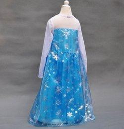 Nouvelles robes de filles de noël en Ligne-20pcs Cheap été habiller 2,014 fille filles costume de princesse robe de soirée de anna bébé robe tutu elsa nouvelle robe rose de Noël congelé