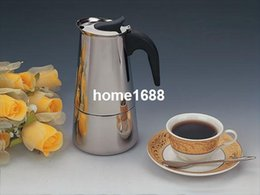 Wholesale Moka Express Cups ML capacity Stovetop Italian Espresso Moca coffee maker pot safe elegant design