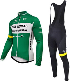 Wholesale-CAJA RURAL cycling jersey no Fleece Fleece long sleeve bike bicycle clothing ropa ciclismo maillot cycling clothes gel pad