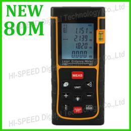 Wholesale m Laser distance meter Bubble level Tape measure Area volume tool Rangefinder Range finder RZ80 OEM