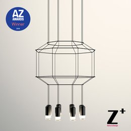 Wholesale Replica item AZ Award Winner D Led lights lamp chandelier designer modern pendant DIY black line wireflow light