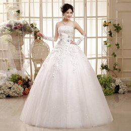 Shanghai Story New arrival top quality organza wedding dress white flower Floral wedding dress lace bride dress