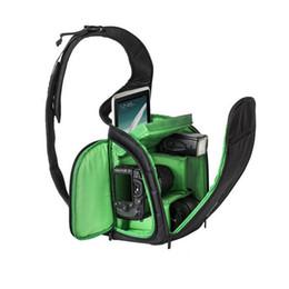 Nueva alta calidad Negro Cámara fotográfica DSLR mochila impermeable Cámara réflex SLR bolsa de hombro Bolso al aire libre de la cámara digital. desde bolsas de honda de la cámara proveedores