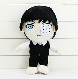 Wholesale Tokyo Ghoul Plush Ken Kaneki Stuffed Plush Toy Soft Dolls cm Great Gift EMS