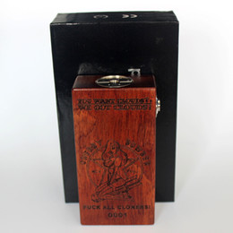 Wholesale Singapore Post APC Cherry Bomb Mechanical Mod High Quality Wood Box Mod APC Mod Fit for Battery Vape Mod E Cig