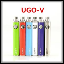 Wholesale USB Passthrough UGO V Battery Vape New Generation EVOD EGO T UGO T E Cigarette Battery Micro Pin Charging System vs eGo VV V3 Battery