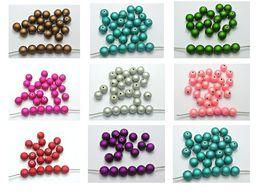 100 Metallic Luster Acrylic Round Beads 10mm with Rubberized Coating