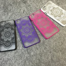 Mandala Datura Henna Flower Matte Hard PC Translucent Case For iPhone 5 5S SE 6 6S 7 8 Plus Samsung S6 S7 Edge