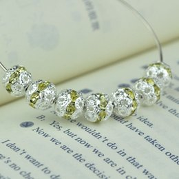 Free Shipping 500pcs Lot 8MM Light Yellow Rhinestones Crystal Spacer Metal Silver Plated Round Rhinestone Loose Beads For DIY