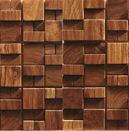 Wholesale 3D wooden mosaic tiles interior design wall tiles building supplies home hotel bar restaurant design mosaic tile patterns natural wood mosai