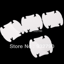 Wholesale 4 x Invisible Clear Adhesive Car auto Door Handle Paint Scratch Protection Film Sheet order lt no track