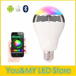 Edison2011 Smart Led Bulb Bluetooth Speaker Bulb E27 LED RGB Light Wireless Music Bulb Lamp Color Changing Via Wifi App Control