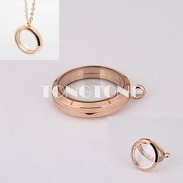 20mm 25mm 30mm 35mm magnetic closure rose gold 316L stainless steel floating glass locket plain face