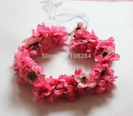 Wholesale adult Tourism vacation hair headdress flower Bride Bridesmaid beach hair crowns wreathes hand craft