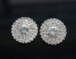 Stock!! 50pcs lot 28mm Golden Metal Rhinestone Button For Flower Cluster Hair Flower Wedding Embellishment DIY Accessories