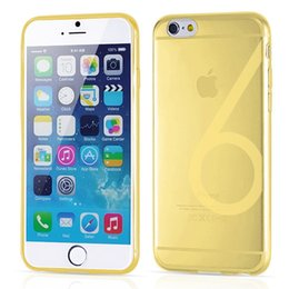 Wholesale 0 mm Ultra Thin Slim TPU Gel Skin Transparent Soft Case Cover for iPhone S Plus inch with Number Word MOQ