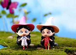 2pcs Fairy Wizard Witch Magical Girl Fairy Garden Decoration Mini World Home Garden Ornament miniatures figurines