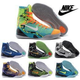 Wholesale Nike KOBE IX ELITE Perspective Men s High Top Basketball Shoes Sports Shoes Cheap Best Trainers Sneakers Shoes