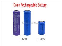 Wholesale Drain Rechargeable Battery mah mah mah V Li MN High Discharging Current A for E Cigarette Nemesis King Mod