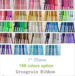 "15% off 2015 NEW 1"" 25mm Solid Colors 100% Polyester grosgrain Ribbon gift Packaging belt ,hair accessories 300 Yards 196colors OEM"