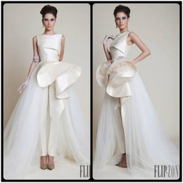 Wholesale Fashionable Speical Design Sleeveless Ivory Special Occasion Dresses Evening Dress Women Pants Formal Dresses