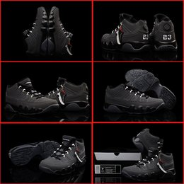 (With shoes Box) NEW 2016 Retro 9 IV All Black Anthracite Hot Sale Men Shoes Free Shipping